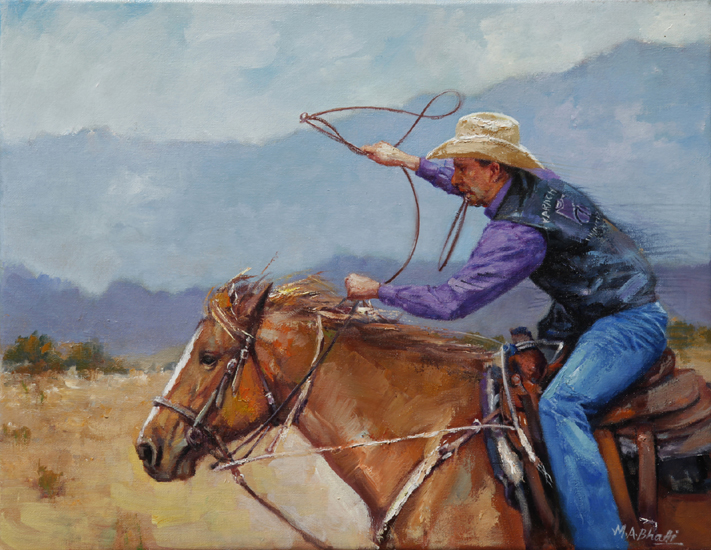 Born with a Lasso | Oil on Canvas | 14 x 18